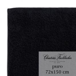 Christian Fischbacher Osuška 72 x 150 cm černá Puro, Fischbacher