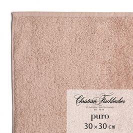 Christian Fischbacher Ručník na ruce/obličej 30 x 30 cm růžovobéžový Puro, Fischbacher