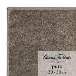 Christian Fischbacher Ručník na ruce/obličej 30 x 30 cm hnědošedý Puro, Fischbacher
