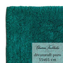 Christian Fischbacher Koupelnový kobereček 55 x 65 cm petrolejový Dreamtuft Puro, Fischbacher