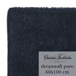 Christian Fischbacher Koupelnový kobereček 60 x 100 cm temně modrý Dreamtuft Puro, Fischbacher
