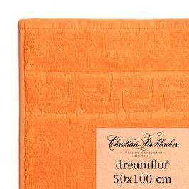 Christian Fischbacher Ručník 50 x 100 cm oranžový Dreamflor®, Fischbacher