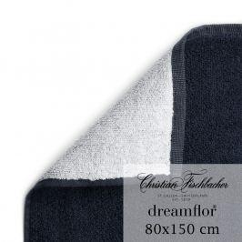 Christian Fischbacher Osuška 80 x 150 cm dvoubarevná bílá/temně modrá Dreamflor®, Fischbacher