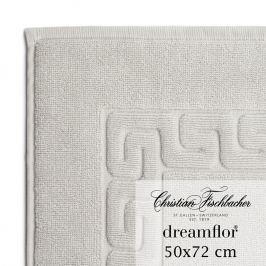 Christian Fischbacher Koupelnová předložka 50 x 72 cm stříbrná Dreamflor®, Fischbacher