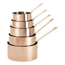 de Buyer Sada měděného nádobí s bronzovou rukojetí Inocuivre 5 ks