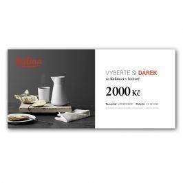 Dárkový certifikát v hodnotě 2000 Kč