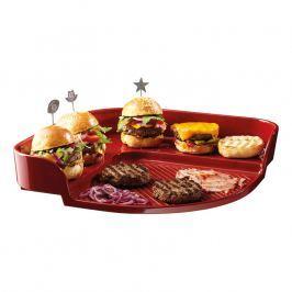 Emile Henry Grilovací plát Burger Party červený Burgundy