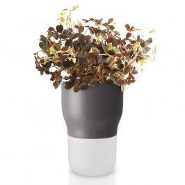 Eva Solo Samozavlažovací keramický květináč šedý Ø 9 cm