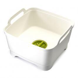 Joseph Joseph Plastový dřez na mytí nádobí s odtokem bílý Wash&Drain™