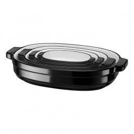 KitchenAid Sada oválných zapékacích mís 4 ks černá