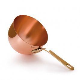 MAUVIEL Měděná miska na zabaglione s bronzovou rukojetí Ø 20 cm