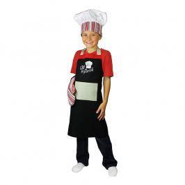MÜkitchen Dětská sada zástěra, chňapka a kuchařská čepice MiniMÜ® chef in training