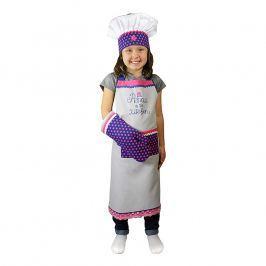 MÜkitchen Dětská sada zástěra, chňapka a kuchařská čepice MiniMÜ® princezna