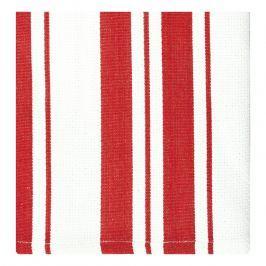 MÜkitchen Kuchyňské utěrky/ručníky malé červené pruhy MÜincotton® 2 ks