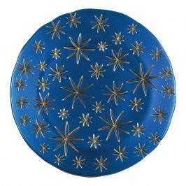 Nachtmann Servírovací/klubový talíř Golden Stars modro-zlatý