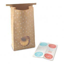 NordicWare Papírové dárkové sáčky se samolepkami Bags & Stickers 6 kusů, Nordic Ware