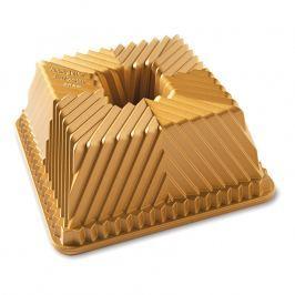 NordicWare Forma na bábovku čtverhranná Bavaria Cube Bundt® zlatá, Nordic Ware
