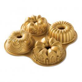 NordicWare Forma na 4 malé bábovky Quartet Bundt® zlatá, Nordic Ware
