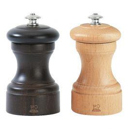 Peugeot Dárkový set mlýnků na pepř a sůl Bistro, bukové dřevo a čokoládová 10 cm