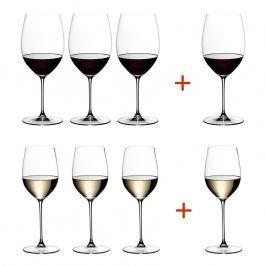 Riedel Výhodné balení sklenic 3 + 1 Cabernet/Merlot a 3 + 1 Viognier/Chardonnay Veritas