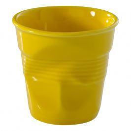 REVOL Kelímek na cappuccino 18 cl žlutá Seychely Froissés