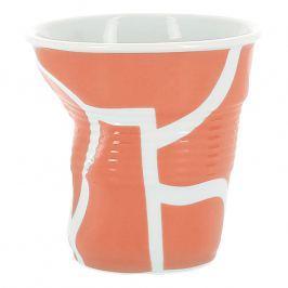 REVOL Kelímek na cappuccino 18 cl All over orange Froissés