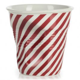 REVOL Kelímek na cappuccino 18 cl červená Berlingot Froissés