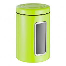 Wesco Dóza na potraviny s průhledem a barevným víkem světle zelená
