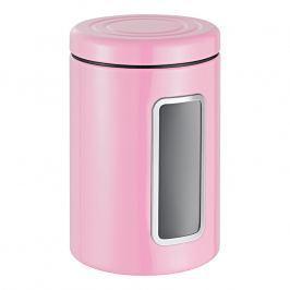 Wesco Dóza na potraviny s průhledem a barevným víkem růžová