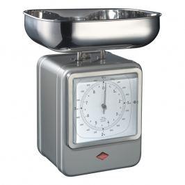 Wesco Kuchyňská váha s hodinami nová stříbrná