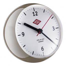 Wesco Stolní hodiny mini šedohnědé