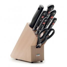 WÜSTHOF Sada nožů se světlým blokem, ocílkou a nůžkami 8dílná Classic