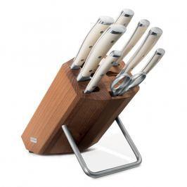 WÜSTHOF Sada nožů s blokem, ocílkou a nůžkami 9dílná Classic Ikon crème