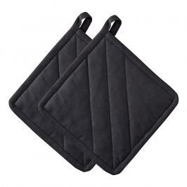 ZONE Sada 2× kuchyňská chňapka čtvercová black