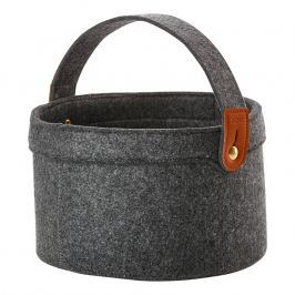 ZONE Úložný košík s uchem velký dark grey CRAFT