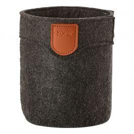 ZONE Úložný košík velký dark grey CRAFT