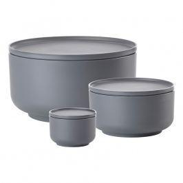 ZONE Sada dóz 0,25 l, 1 l a 4,5 l cool grey PEILI