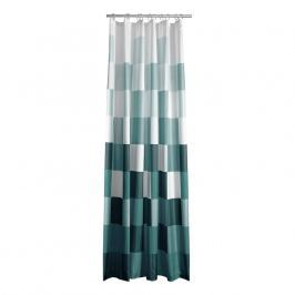 ZONE Sprchový závěs s čtverci 180 × 200 cm green