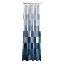 ZONE Sprchový závěs s čtverci 180 × 200 cm blue