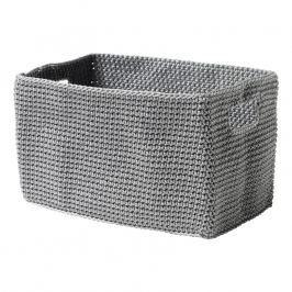 ZONE Úložný košík hranatý grey