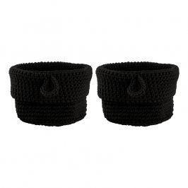 ZONE Sada 2 úložných košíků kulaté malé black