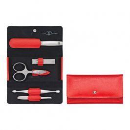 ZWILLING Manikúra 5dílná TWINOX® Dauphine červená s kleštičkami