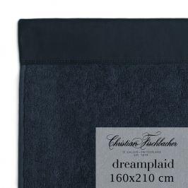 Christian Fischbacher Extra velká osuška 160 x 210 cm temně modrá Dreamplaid, Fischbacher