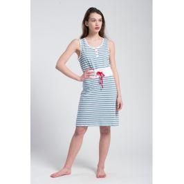 Šaty Pleas 161823 - barva:PLE802/bílá-proužky, velikost:L