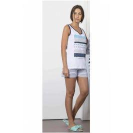 Dámské letní pyžamo Lady Belty 0122-10 - barva:BELMAR/námořnická, velikost:L