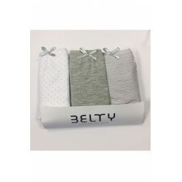 Set 3 ks vyšších kalhotek Lady Belty WP-0131 - barva:BELGRI/šedá, velikost:L