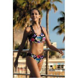 Sportovní plavky Feba F81 - barva:FEBA471/černá/květy, velikost:L