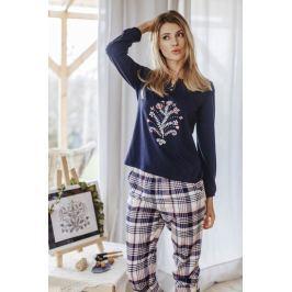 Dámské pyžamo Key LNS 413 - barva:KEYMODR/Tmavě modrá, velikost:L