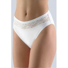 Klasické kalhotky s krajkou Gina 10200P - barva:GINMxB/bílá, velikost:L/XL