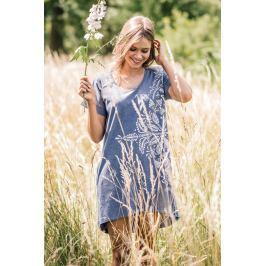 Letní šaty LHD 745 - barva:KEYMODR/Tmavě modrá, velikost:S